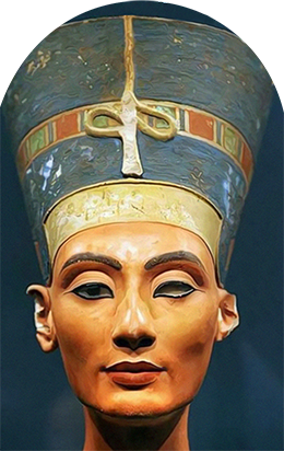 QUEEN NEFERTITI SACRED OILS GODDESSES 100 DPI WEB READY PNG - GODS & GODDESSES OF THE MYSTERY SCHOOL