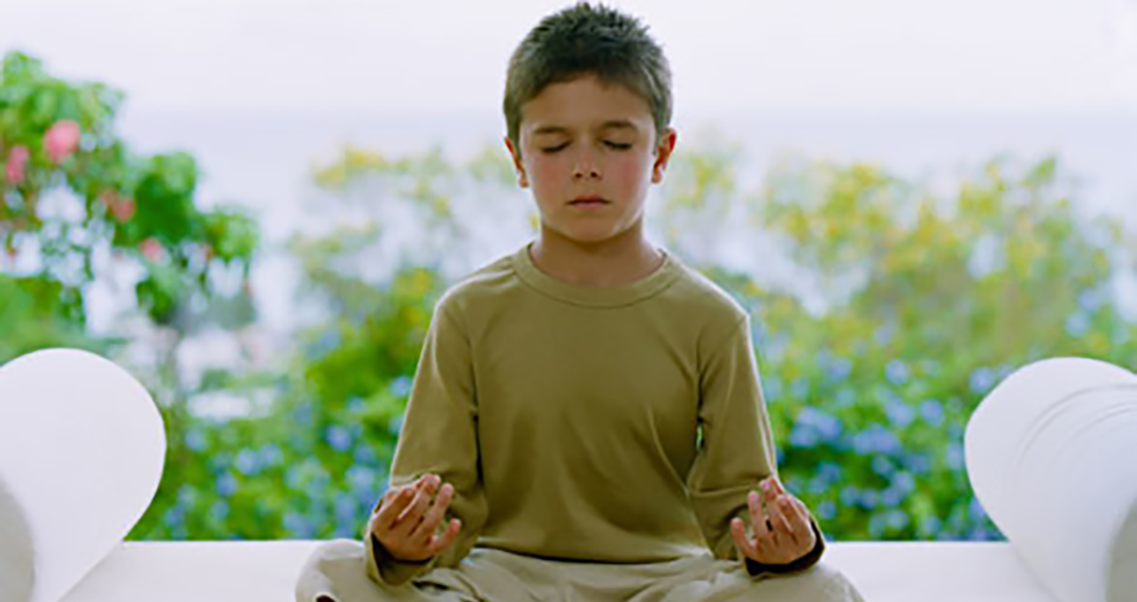 Boy in Yoga Nidra Meditation LARGE - Child of Light Teacher Meditation Workshop