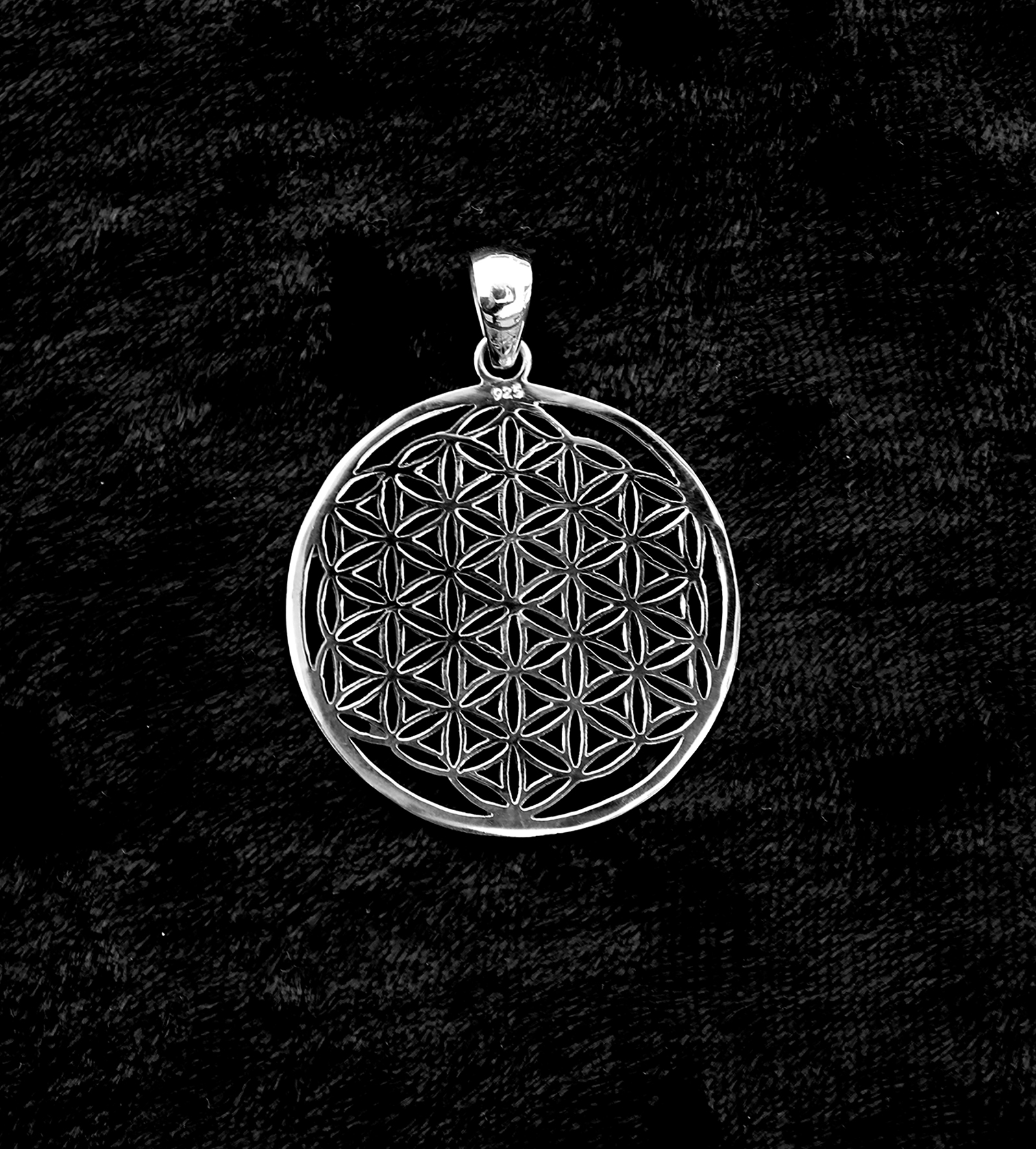 Sterling silver flower of life pendant transference healing flower of life pendant mozeypictures Gallery