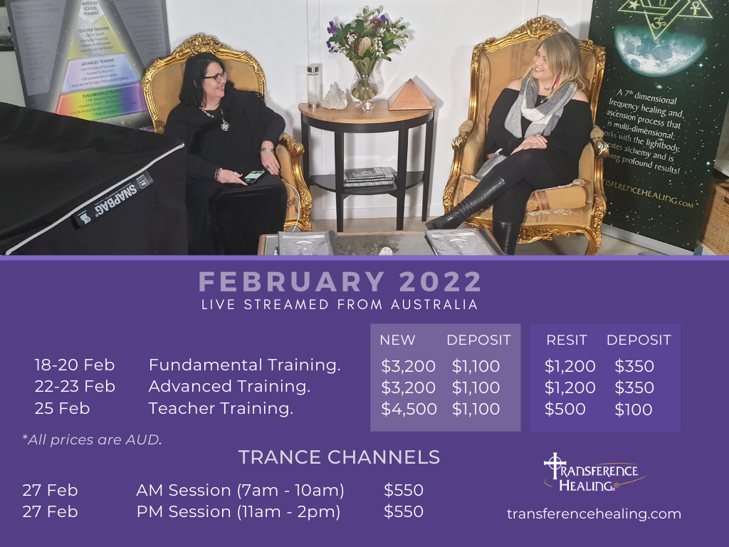 February 2022 Online Training with Transference Healing